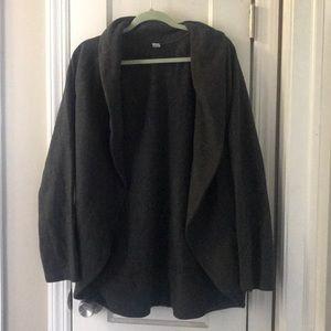 Old Navy Dark Gray Fleece Active Cardigan